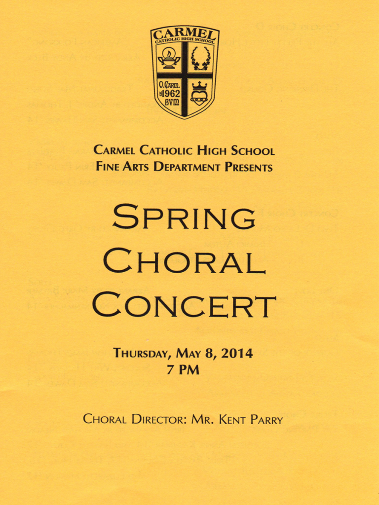 Choral Concert 2014 Page